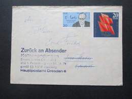 DDR Postkrieg Stempel Kettensendungen Nicht Zugelassen Und Zurück An Absender Kettensendungen Sind Unzulässig! - Briefe U. Dokumente