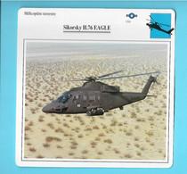 FICHE AVION--hélicoptère Terrestre---USA----SIKORSKY H-76 EAGLE---voir 2 Scans - Airplanes