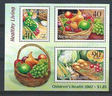 Z0065 - NEW ZEALAND 2002 - M16 - HEALTHY LIVING - CHILDREN'S HEALTH - UNUSED SHEET - Nuevos