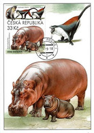 CM 994 Czech Rep. Nature Protection: Zoological Gardens III 2018 Hippo Monkey - Otros