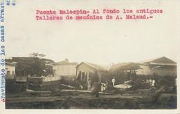 San Salvador Real Photo  Earthquake Or Flood Puente Malespin . Talleres A. Malaud .  Casas Arrastradas - El Salvador