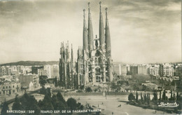 Barcelona 1955; Templo Exp. De La Sagrada Familia - Circulated. (A. Zerkowitz - Barcelona) - Barcelona