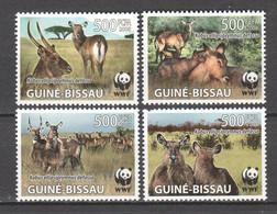 Guine Bissau 2008 Mi 3919-3922 MNH - WWF DEFASSA WATERBUCK - Unused Stamps