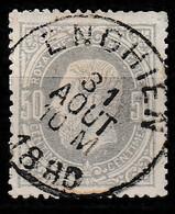 """Belgie 1869. Yvert 35, Mi 32 Obliteré """"ENGHIEN 31 Aout 10M 1880"""" - 1869-1883 Leopold II"""