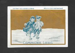 Chromo Liebig RARA S4 C-bambina E Bambino Pattinano  1872 OTTIMO STATO - Liebig