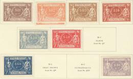 SP456 1920-1922 PORTUGAL PARCEL POST STAMPS MICHEL #1-6,8,11 15.5 EURO 9ST LH - Nuevos