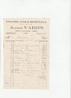 60-A.Vaidis...Epicerie, Vins & Spiritueux...Trie-Château..(Oise)..1923 - Alimentare