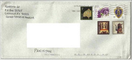 USA UNITED STATES OF AMERICA POSTAL USED AIRMAIL COVER TO PAKISTAN - Sin Clasificación