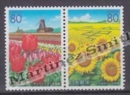 Japan - Japon 2002 Yvert 3206-07, Flowers, Hokkaido Prefecture - MNH - Unused Stamps