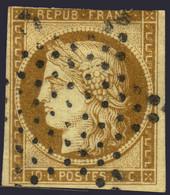 10c Bistre-brun De 1850 Oblitération Etoile à -30€  (Y&T  N° 1a, Cote 560€) - 1849-1850 Ceres