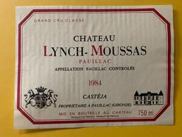 17641 - Château Lynch-Moussas 1984 Pauillac - Bordeaux