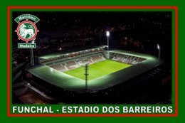 CARTE DE STADE . FUNCHAL-ILE DE MADERE  PORTUGAL  ESTADIO  DOS  BARREIROS# CS. 332 - Calcio