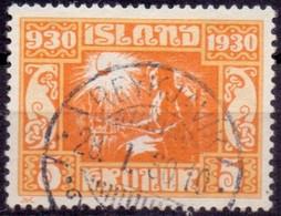 IJSLAND 1930 5kr Parlementsgebouw GB-USED - Gebruikt