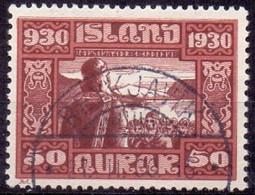 IJSLAND 1930 50aur Parlementsgebouw GB-USED - Gebruikt