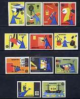 Matchbox Labels - Complete Set Of 12 Matchmaking, Superb Unused Condition (Yugoslav Drava Series) - Matchbox Labels