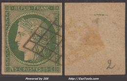 15c Vert De 1850 TB Mais FAUX  (Y&T  N° 2, Cote De L'original: 1100€) - 1849-1850 Ceres