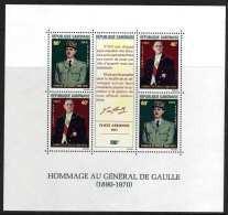 Gabon BF N° 17  XX  Général De Gaulle, Le  Bloc   Sans Charnière, TB - Gabon