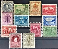 NEWFOUNDLAND 1933 - MLH/canceled - Sc# 212, 213, 214, 215, 216, 217, 219, 220, 222, 223, 224, 225 - 1908-1947
