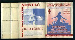 Carnet De 1960  - Tuberculose - Antituberculeux - PUB BCG - Nestlé Vache étable - Tegen Tuberculose