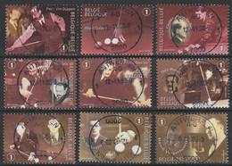 3724/3732 Champions De Bijart/Biljarten Oblit/gestp Centrale - Used Stamps