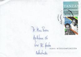 Tanzania 2020 Musoma Mahatma Gandhi President Julius Nyerere Flag Cover - Tansania (1964-...)