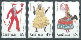 Sainte-Lucie YT N°791/793 Noël 1985 Neuf/charnière * - St.Lucia (1979-...)