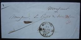 Moulins (Allier) 1838 Lettre En Port Payé, Sans Correspondance - 1801-1848: Precursori XIX