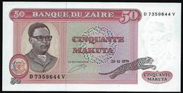 ZAIRE - 50 MAKUTA  - 24-11-1979 - UNC - Zaïre