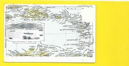 St THOMAS DWI Town & Harbour Map  Iles Vierges Virgin - Virgin Islands, US