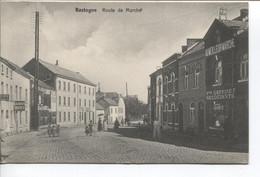 REF2777/ CP-PC Bastogne Route De Marche Animée Utilisée En Feldpost - Bastenaken