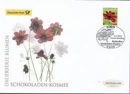 2015 Germany  Deutschland Mi. 3197R FDC Blumen :   Schokoladen-Kosmee (Cosmos Atrosanguineus) - FDC: Enveloppes