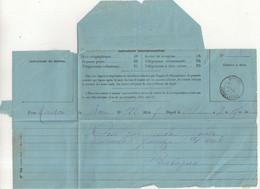 "FRANCE / ALGERIE : TELEGRAMME . OBL . "" MONDOVI CONSTANTINE "" . 1889 . - 1849-1876: Klassik"