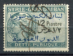"GRAND LIBAN / SYRIE TIMBRE FISCAL "" DETTE PUBLIQUE SYRIE GRAND LIBAN 1/2 PIASTRE "" OBLITERE - Gebraucht"