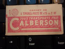 Timbre Type Marianne De Decaris - Ancien Carnet De 8 Timbres, Reste 1. Tous Transports Par Calberson. - 1960 Marianne De Decaris