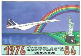 Avion CONCORDE 10è Anniversaire De La Mise En Service Commercial1976-1986 - Zonder Classificatie