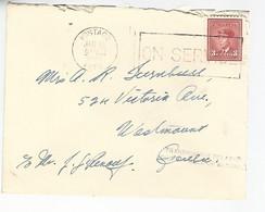 57420) Canada R.C.A.F. Miltary Mail Postmark Cancel 1943 Transmission Delayed - Briefe U. Dokumente