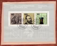 Briefstueck, Block UPU Hamburg, Gerstetten 1985 (2409) - Storia Postale