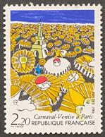 FRA2395MNH - Carnaval - Venise à Paris - 2f20 MNH Stamp 1986 - France YT 2395 - Neufs