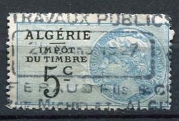 "ALGERIE TIMBRE FISCAL "" ALGERIE IMPOT DU TIMBRE 5c "" OBLITERE - Used Stamps"