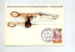 Carte Maximum 1978 Strasbourg Championnat Gymnastique - 1970-79