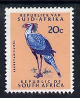 South Africa 1964 Secretary Bird 20c (Redrawn & Wmk'd) U/M, SG 249* - Neufs