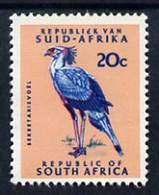 South Africa 1969 Secretary Bird 20c (Redrawn With Phosphor Bands) U/M, SG 296* - Neufs