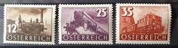 Österreich 1937, Mi 646-48 Eisenbahn MNH Postfrisch - Nuevos