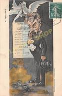 Caricature Satirique C. PELLETAN  Ministre  Alcoolique Notoire Amateur D'Absinthe Par E. MULLER - Ed. RIBBY (¬‿¬) ♥ - Satirical