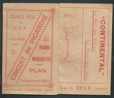Grand Prix De L'A.C.F. 12 Et 13 Juillet 1913 - Voitures Et Motocyclettes, Plan Renseignement Divers ( T B ETAT   Am 232 - Sport