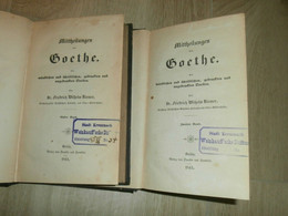 Goethe , 1841, Franz Weinkauff Sammlung , Mit Autograph , 2 Bände , Kreuznach !! - Autographed