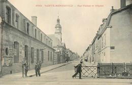 Ste Menehould * Rue Florion Et L'hôpital * Passage à Niveau Ligne Chemin De Fer - Sainte-Menehould