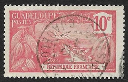 GUADELOUPE  1905-07  -  Y&T  59  -  Mont Houelmont  10c Rose  -  Oblitéré - Used Stamps