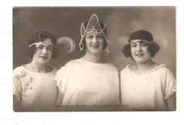 Carte Photo 36 VATAN  Mi - Carême De 1924 Les Reines De Vatan 3 Jeunes Femmes  Photo Gastal - Sonstige Gemeinden