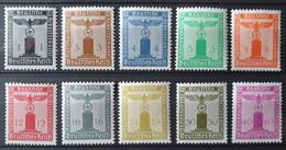 Deutsches Reich DIENSTMARKEN 1938, Mi 144-54 MNH Postfrisch - Dienstzegels